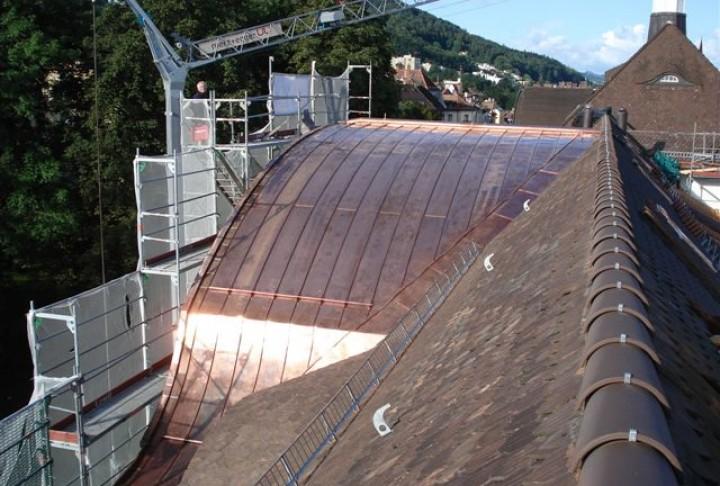 Blechdach aus Kupfer